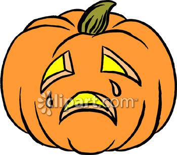 350x306 Pumpkin Clipart Sad