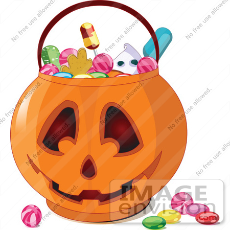 450x450 Royalty Free (Rf) Cliprt Illustration Of Halloween Candy In