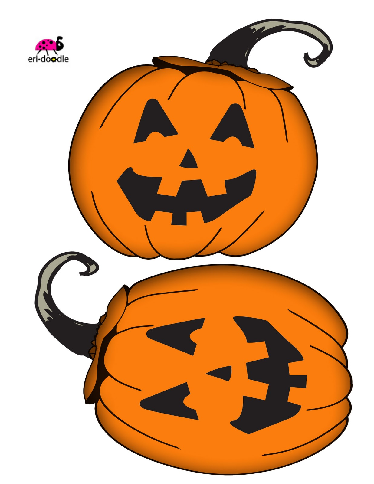 1236x1600 Eri Doodle Designs And Creations Simple Jack O Lantern Goodie Bag