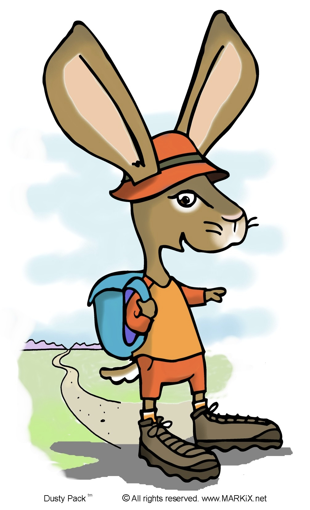 1006x1654 Meet Dusty Pack(Tm), The Hiking Jackrabbit.