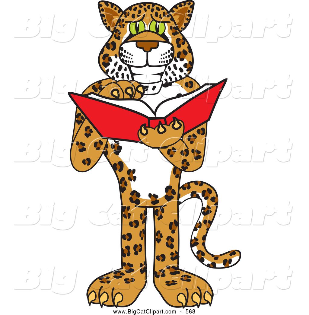 1024x1044 Big Cat Cartoon Vector Clipart Of A Happy Cheetah, Jaguar