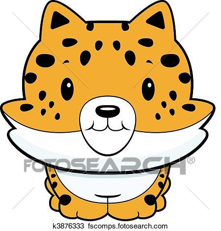 450x470 Clipart Of Baby Jaguar K3876333