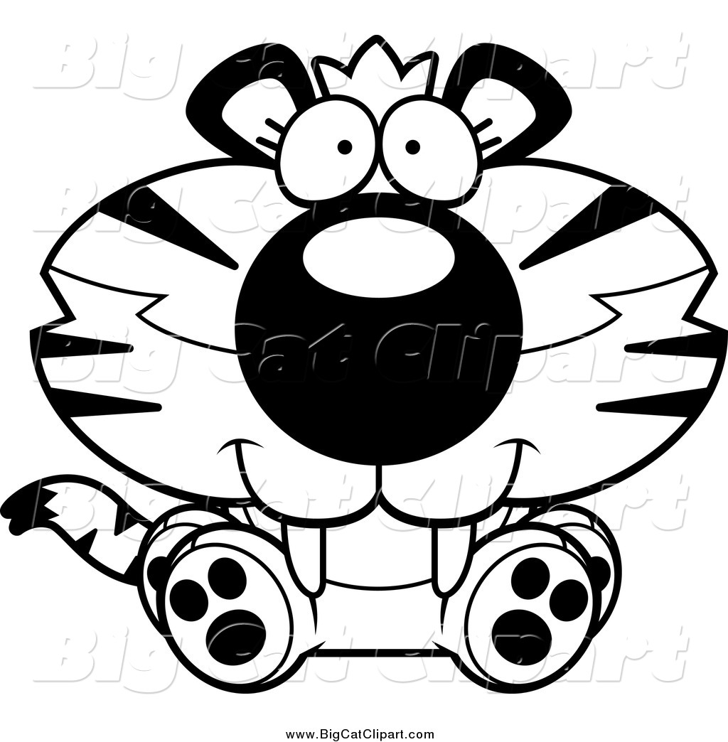 1024x1044 Cute Tiger Clipart Black And White Clipart Panda