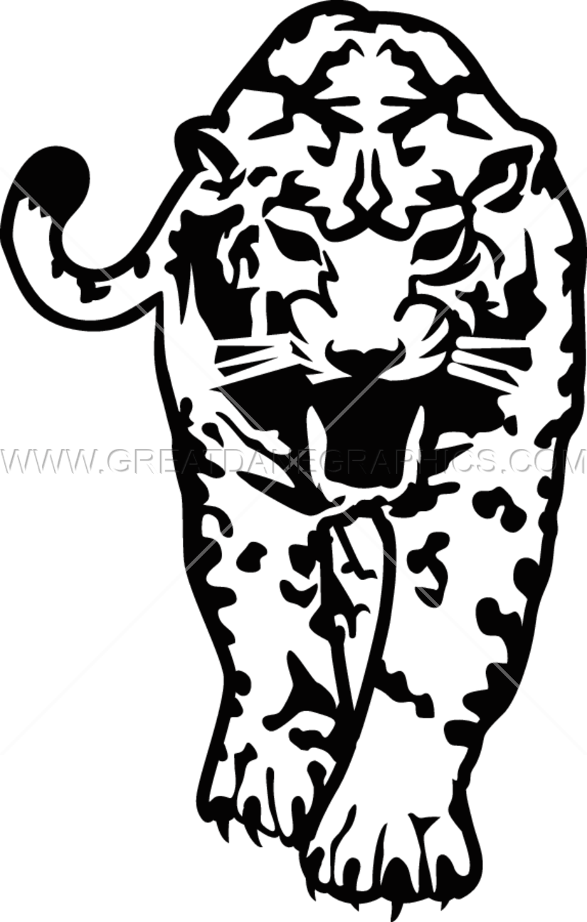 825x1294 Jaguar Walking Production Ready Artwork For T Shirt Printing