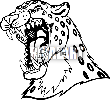 361x326 Jaguar Clipart Sketch