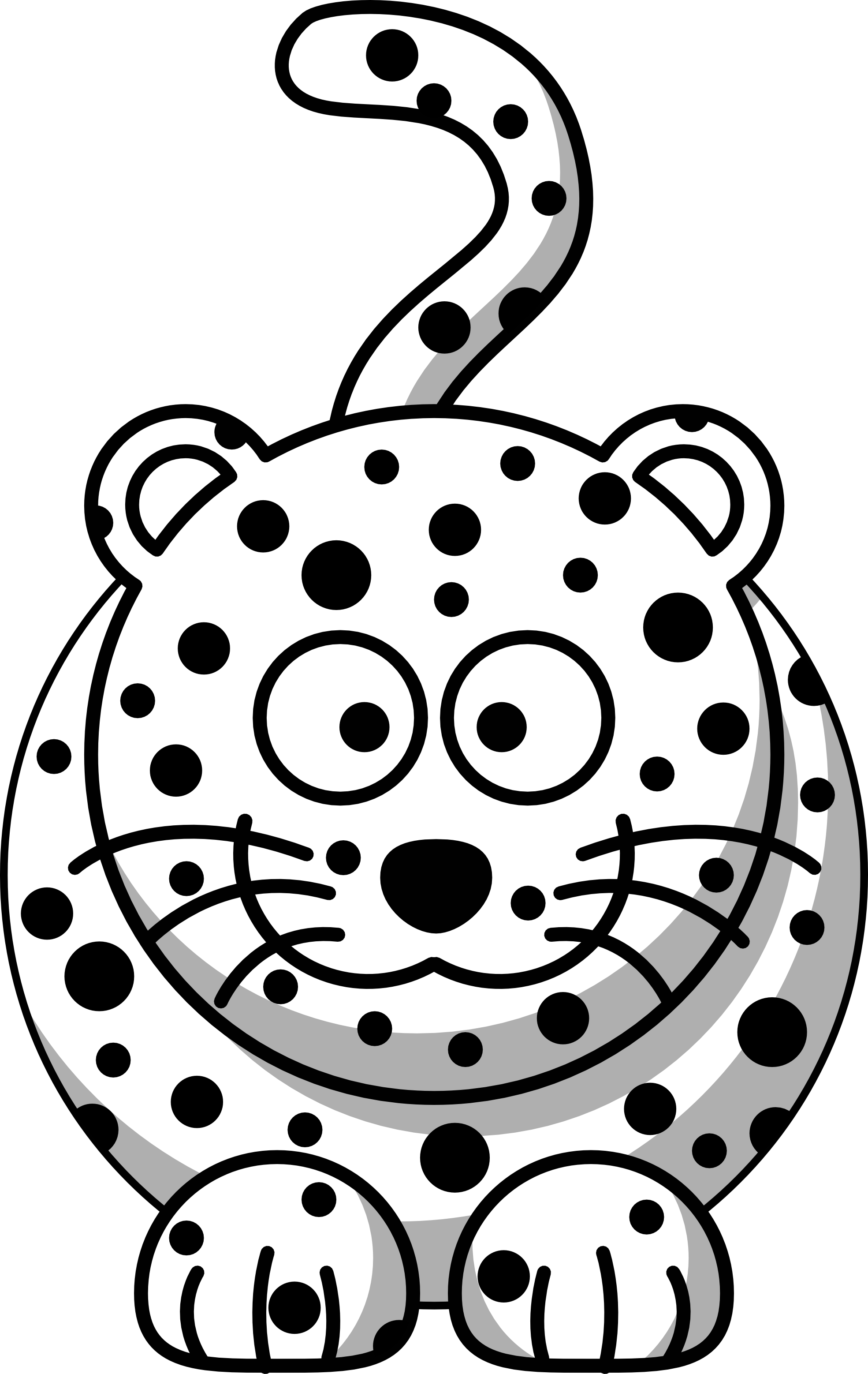 1969x3115 Leopard Clipart Black And White
