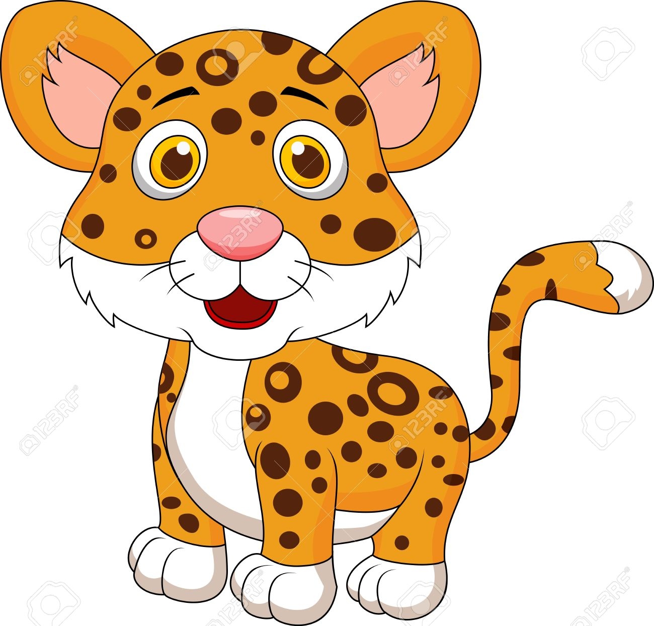 1300x1244 Cute Baby Jaguar Cartoon Royalty Free Cliparts, Vectors, And Stock