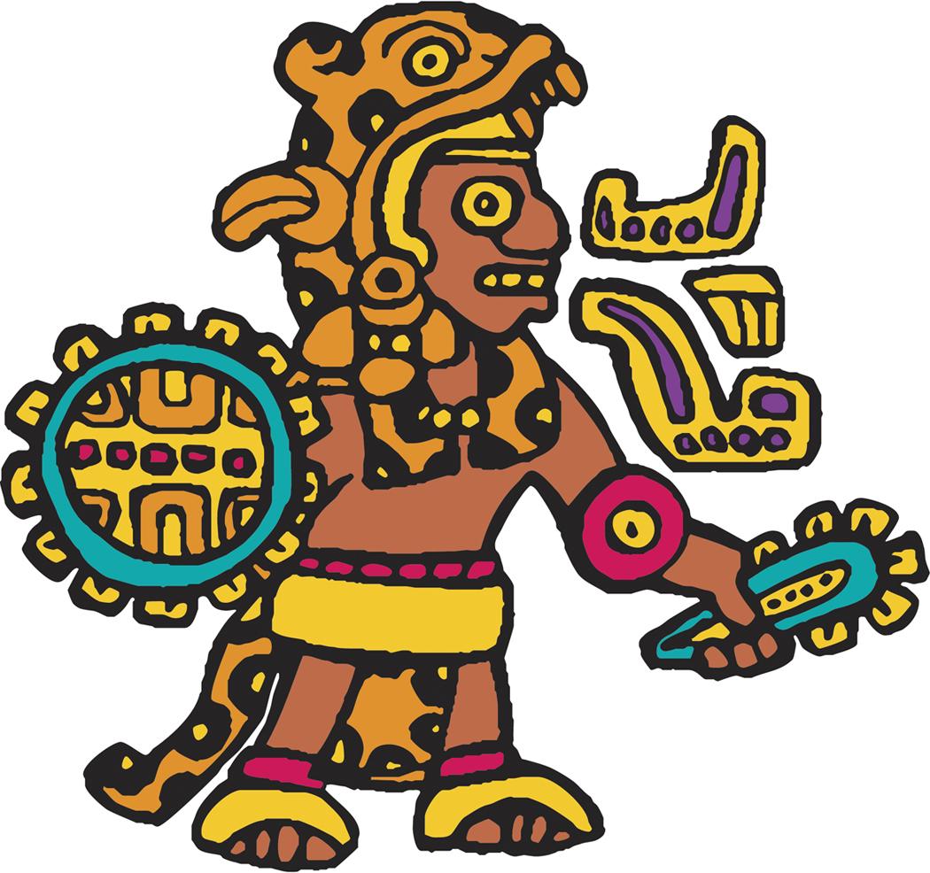 1050x986 Aztec Warrior Clipart Jaguar