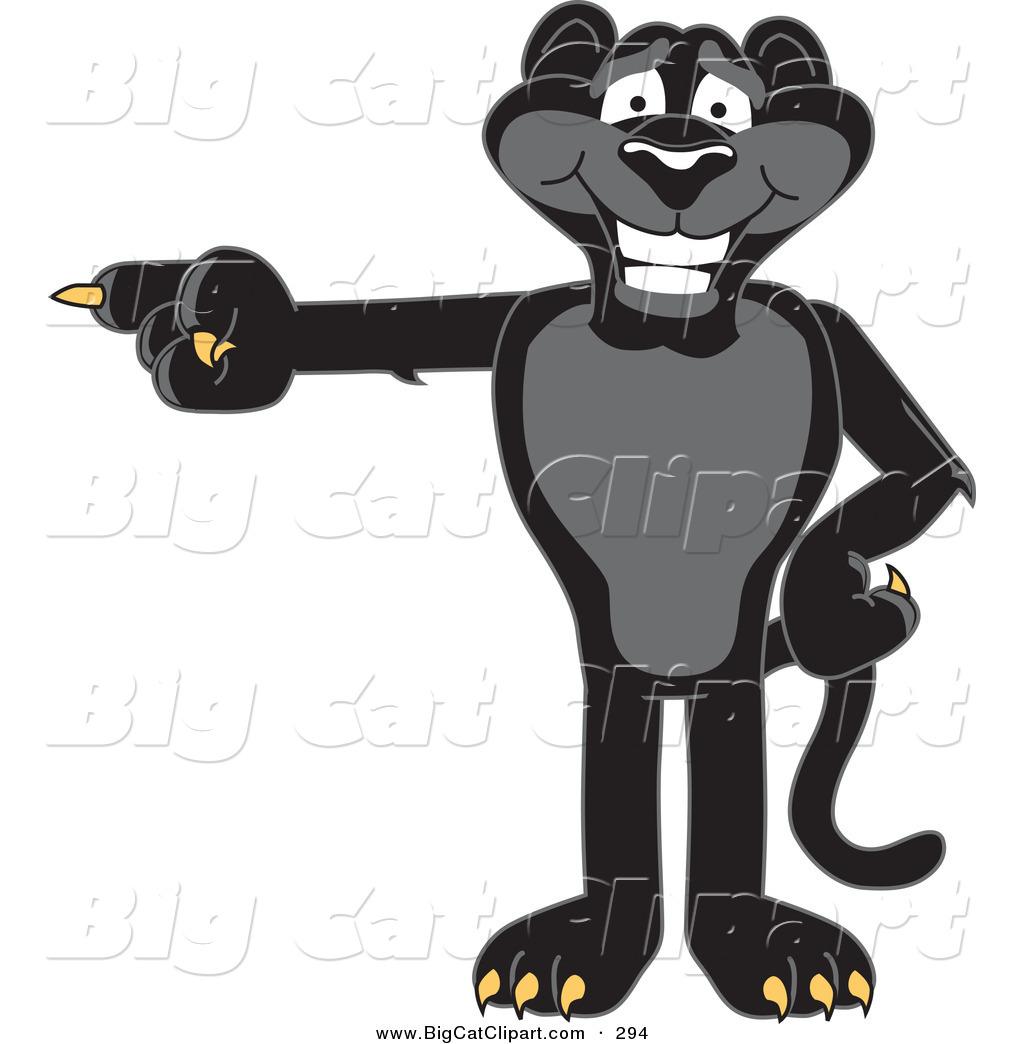 1024x1044 Big Cat Cartoon Vector Clipart Of A Happy Black Jaguar Mascot