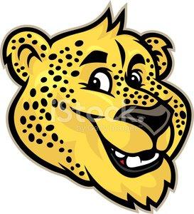 273x300 Cheetah Jaguar Mascot Head Premium Clipart