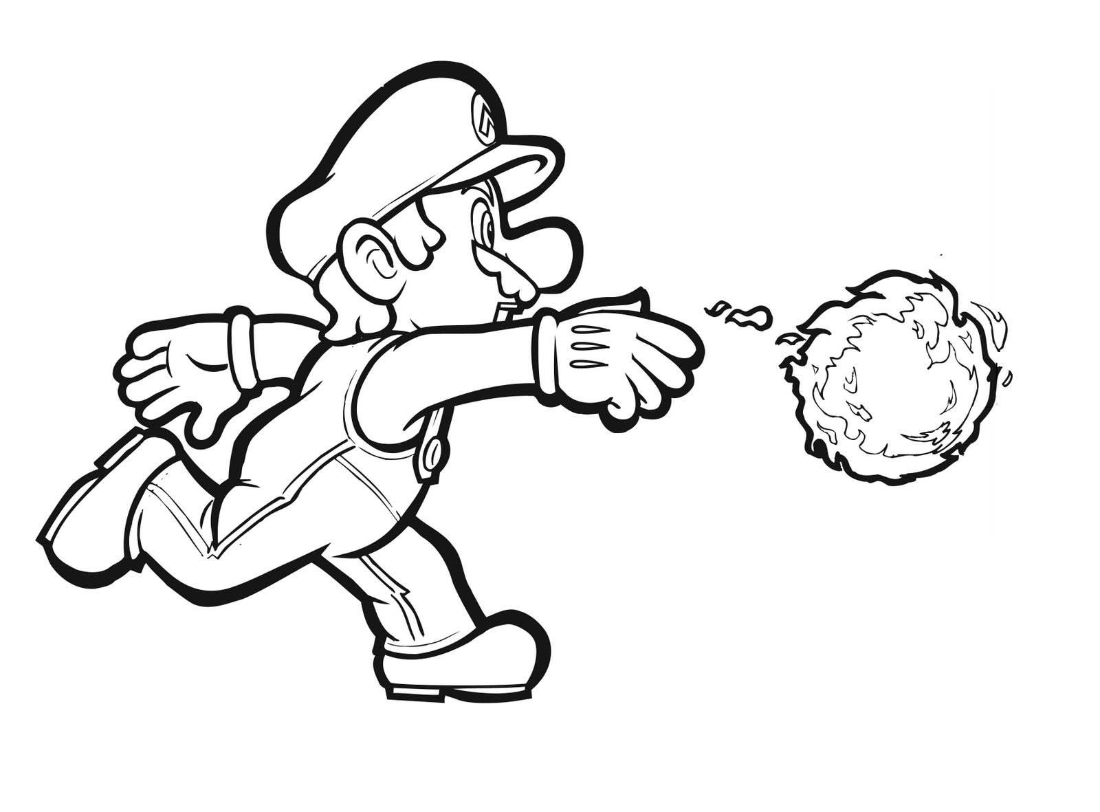1600x1181 Coloring Pages Of Mario