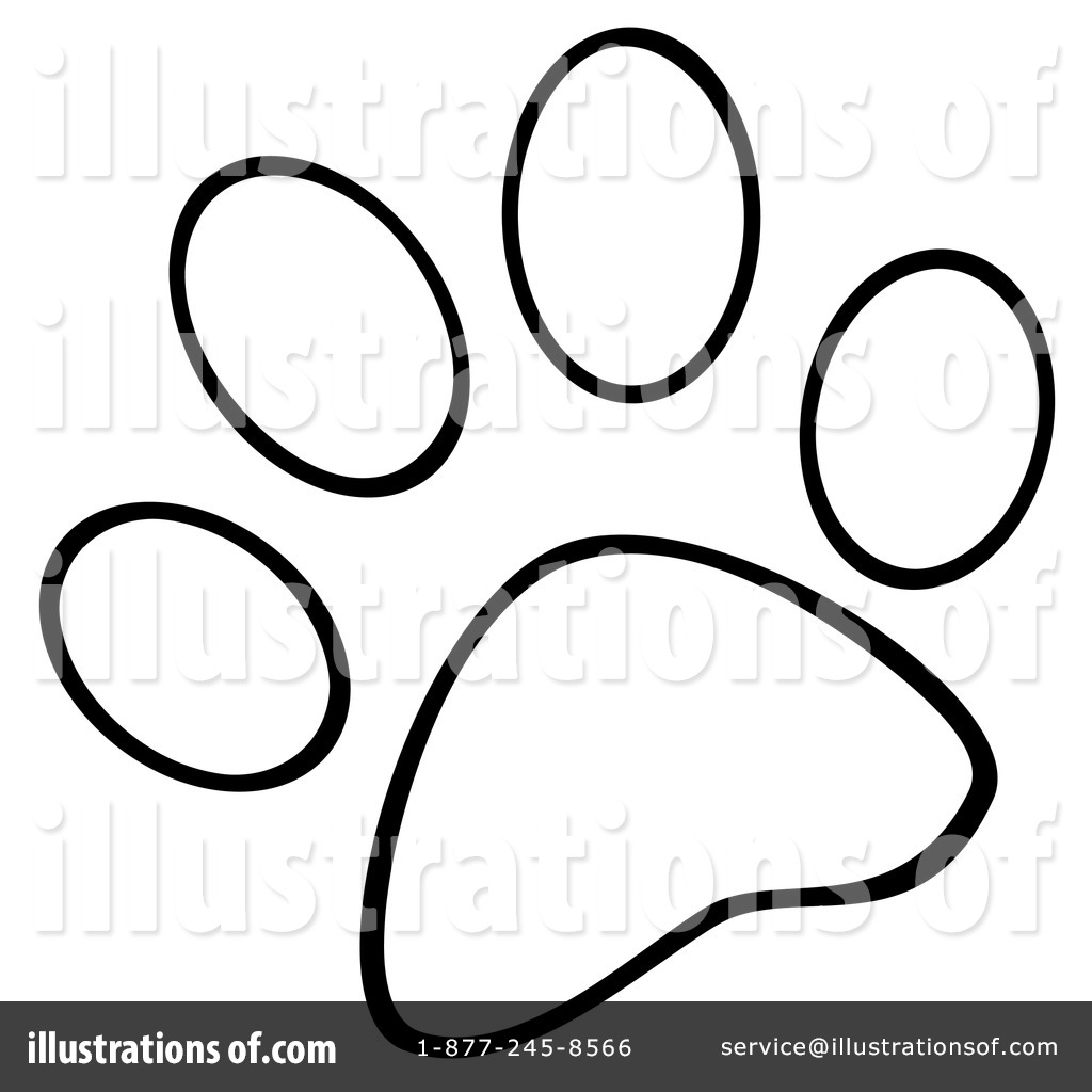 1024x1024 Coyote Paw Print Clipart
