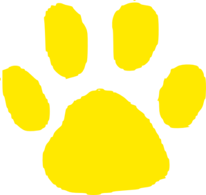 298x282 Jaguar Paw Print In Gold Clip Art