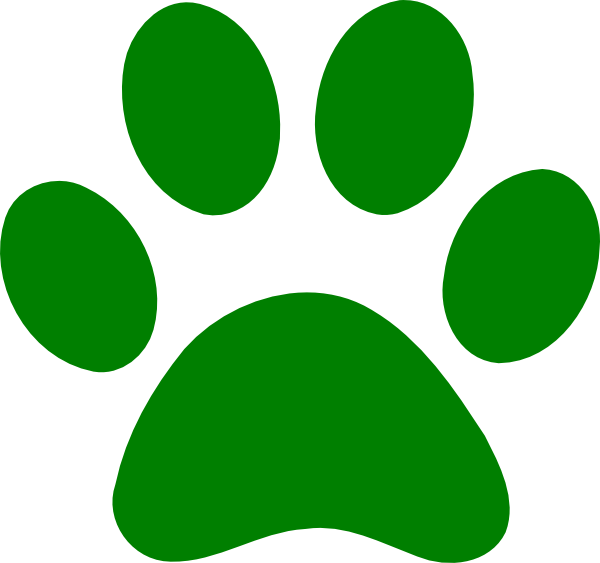 600x563 Jaguar Paw Prints Clipart