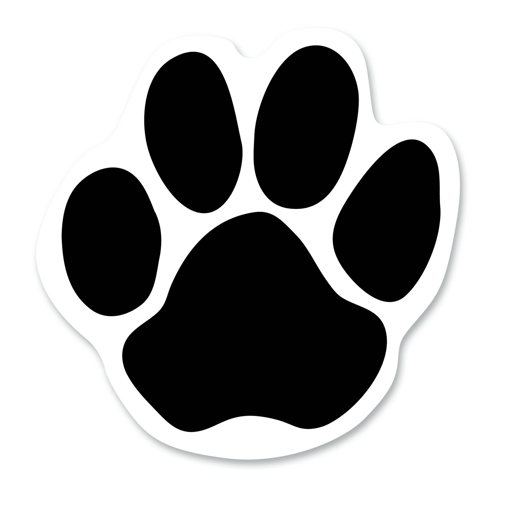 1776x1800 Paw Print Outline Clipart