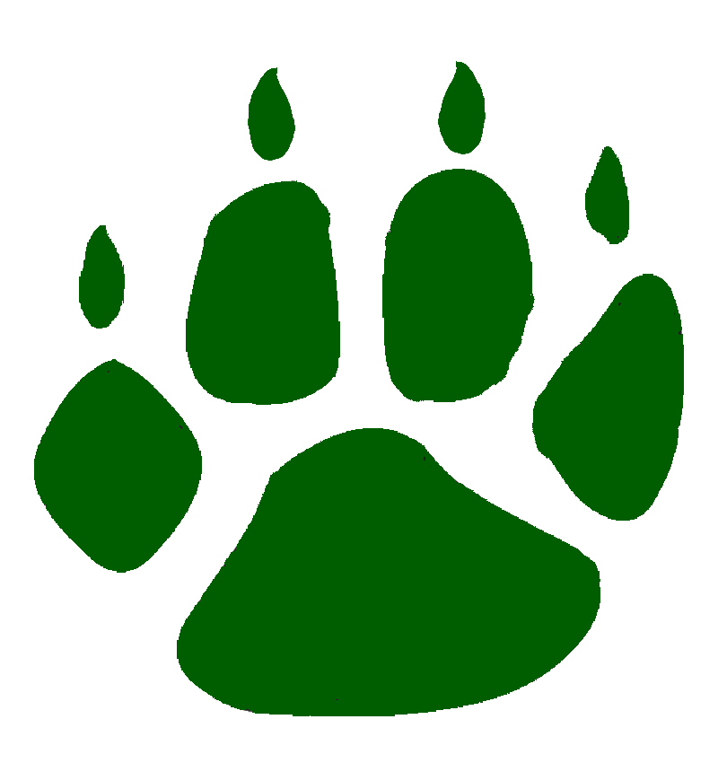 800x850 Paw Clipart Green