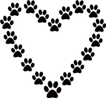 355x329 Paw Prints Dog Paw Print Clip Art Free Download 7