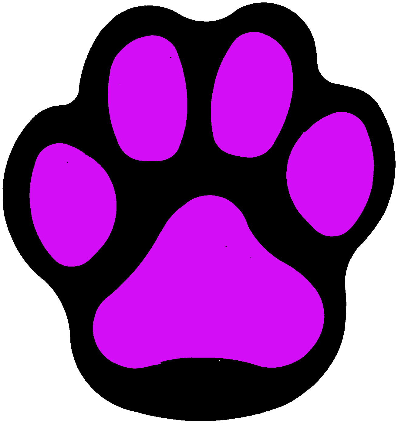 1312x1400 Wildcat Clipart Panther Paw