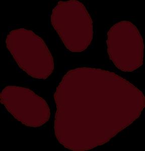 288x299 Cougar Paws Clip Art