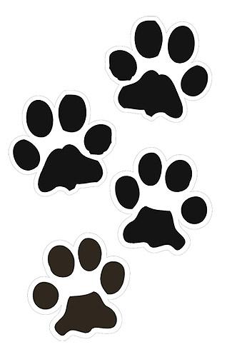 318x500 Free Paw Prints Clip Art