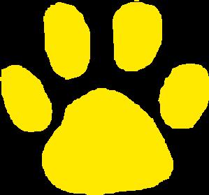 299x279 Jaguar Paw Print In Gold Clip Art