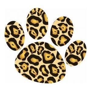 300x300 Leopard Paw Print Clip Art