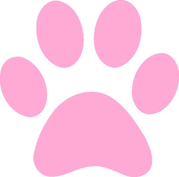 600x593 Pink Paw Print Clip Art