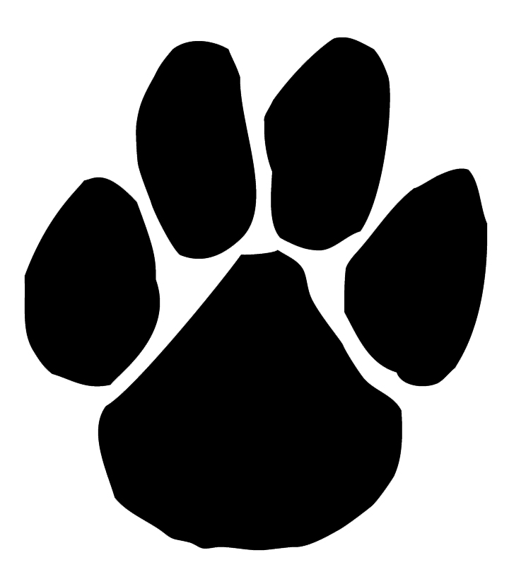 720x826 Black Panther Clipart Paw Print