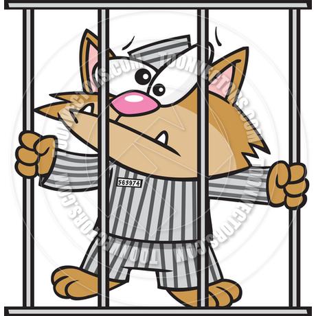 460x460 Cartoon Cat In Jail By Ron Leishman Toon Vectors Eps
