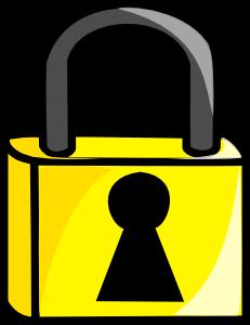 231x300 Closed Lock Clip Art