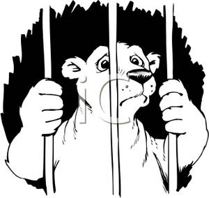 300x284 Picture Coloring Page Of A Sad Polar Bear In Jail