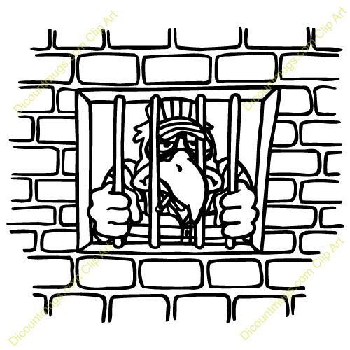 500x500 Prison Clipart Jailbird