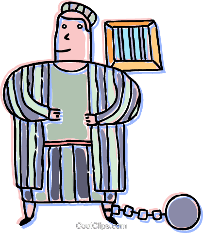418x480 Person In Jail Royalty Free Vector Clip Art Illustration Vc042860