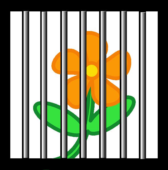 588x597 Flower Behind Bars Clip Art