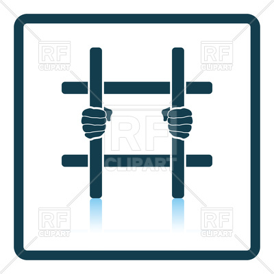 400x400 Hands And Prison Bars, Prison Icon Royalty Free Vector Clip Art