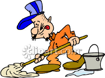 350x261 Cartoon Janitor Clip Art