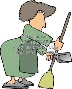 243x300 Illustration Of A Woman Janitor