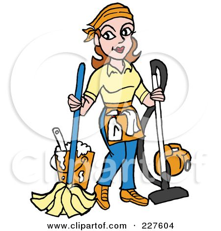 450x470 Janitor In School Clipart