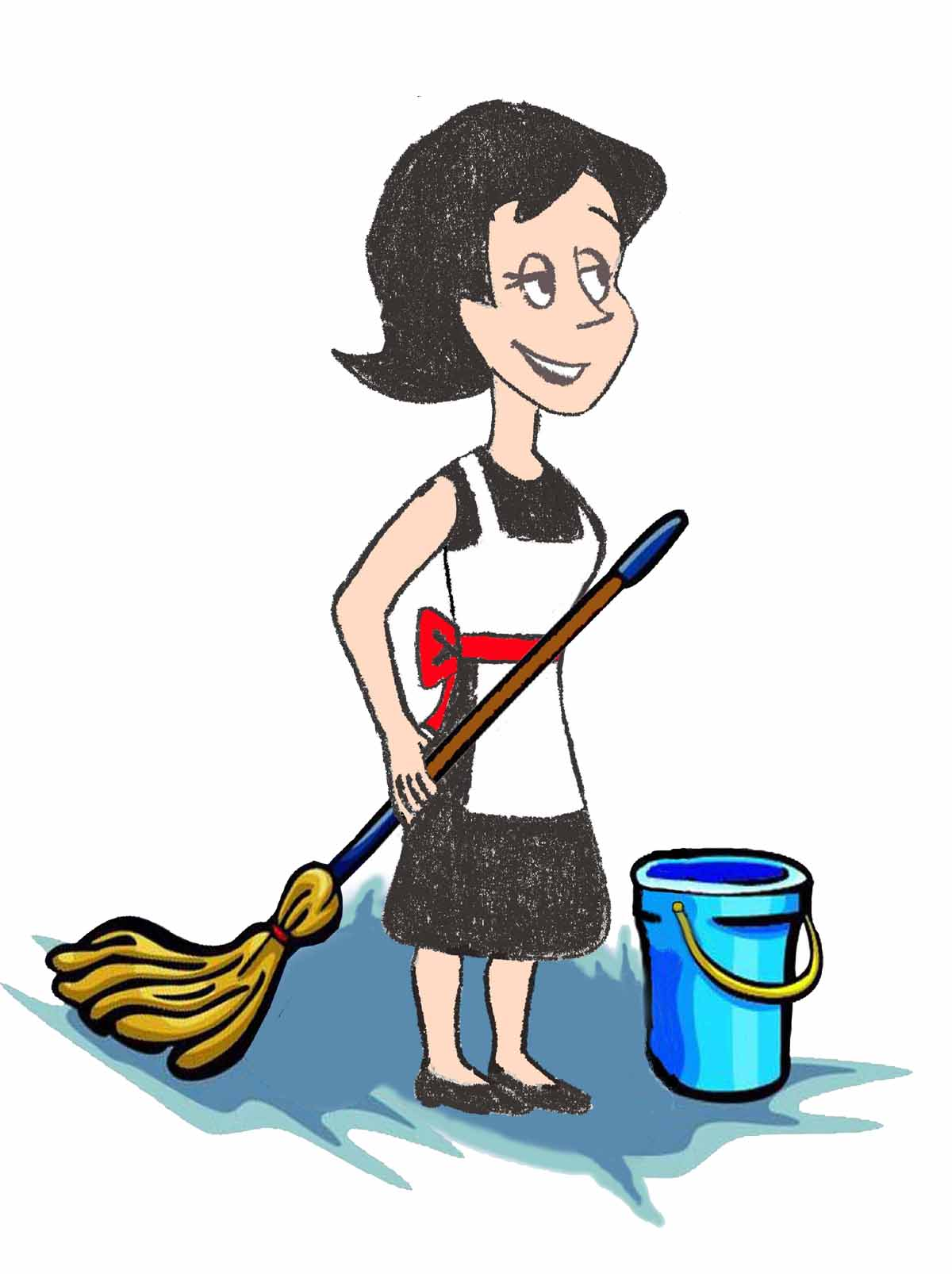 1200x1606 Mom Cleaning Clipart