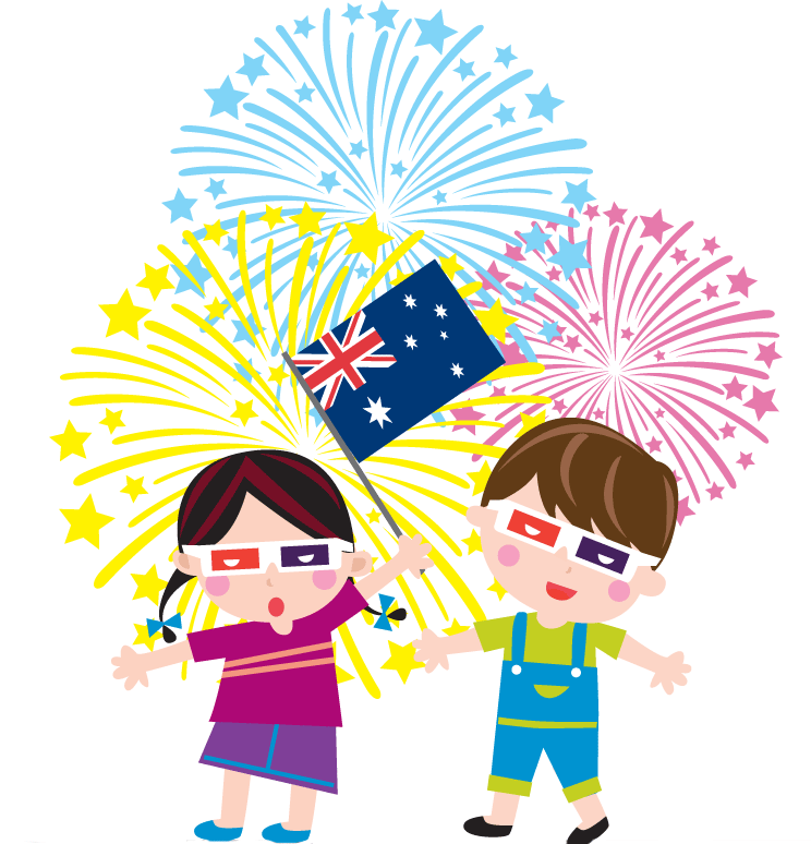 744x774 Fireworks Clipart January
