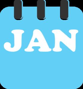 279x298 January Teal Clip Art