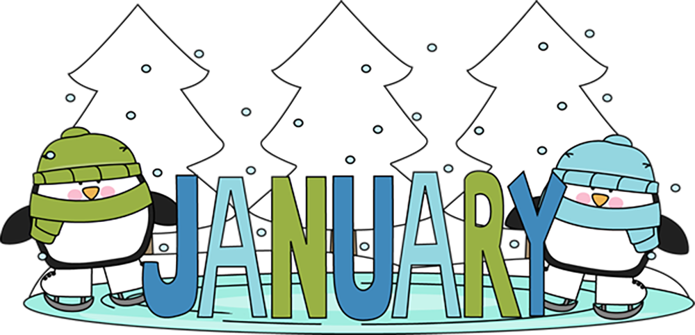 1000x483 Winter January Clipart, Explore Pictures