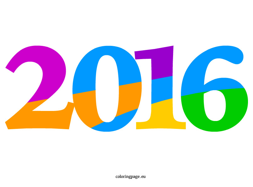 January 2016 Clipart