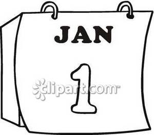 300x263 Clipart Picture Of A Calendar Turned To January 1st