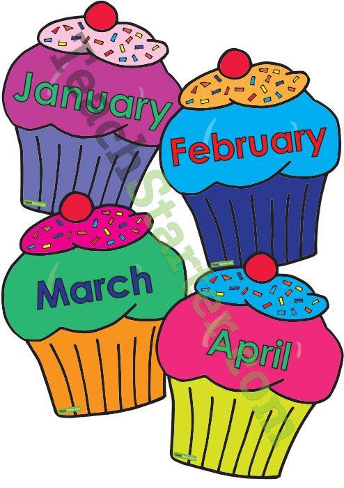 494x700 Cupcake Birthday Chart