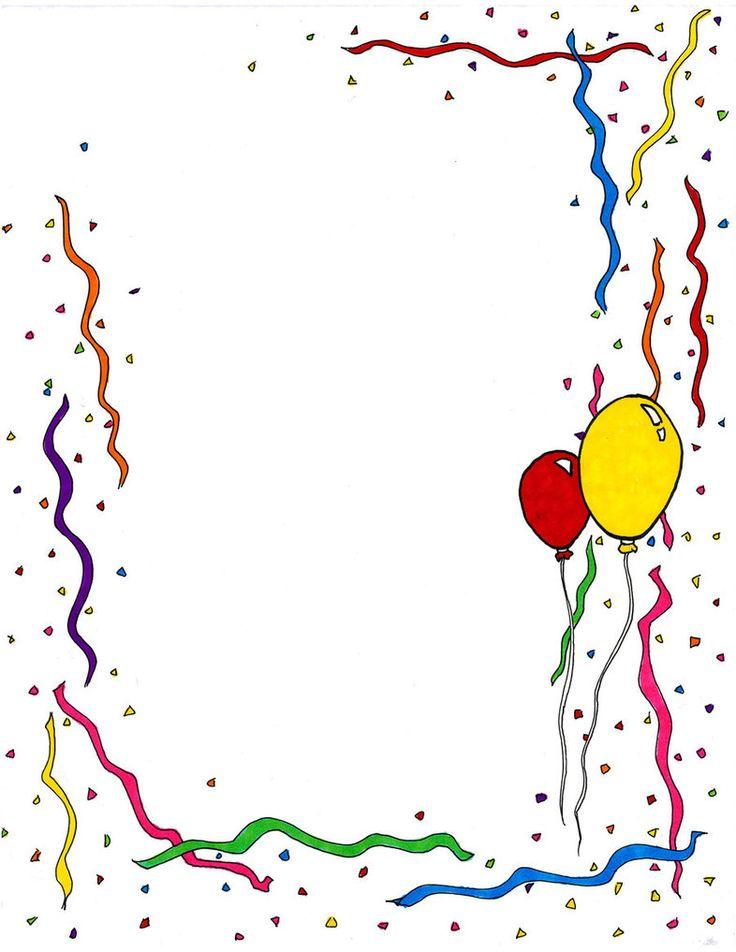 736x952 Image Of Birthday Border Clipart