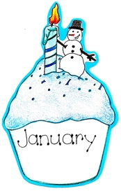 174x273 January Cupcake Clipart