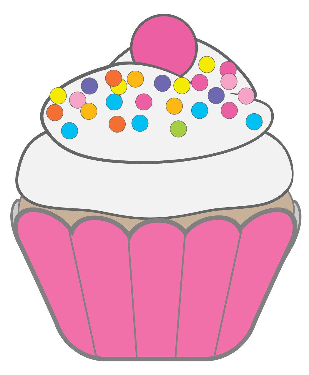1050x1274 January Cupcake Cliparts