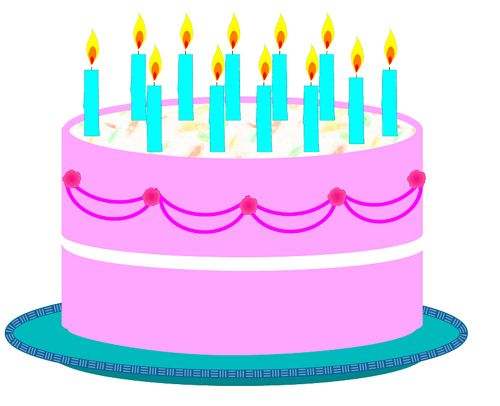 500x406 January Birthday Cake Clip Art Clipart Collection