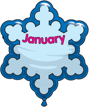 288x346 Free Clipart Birthday January